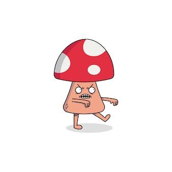 Postać z kreskówki ładny grzyb zombie