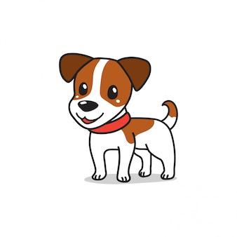 Postać z kreskówki ładny jack russell terrier pies