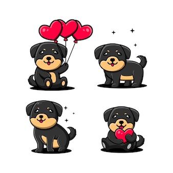 Postać z kreskówki ładny pies