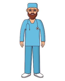 Postać z kreskówki lekarza