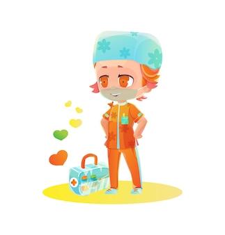 Postać z kreskówki męskiej pielęgniarki
