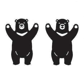 Postać z kreskówki niedźwiedzia polarnego