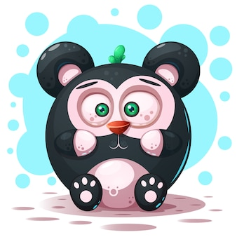 Postać z kreskówki panda