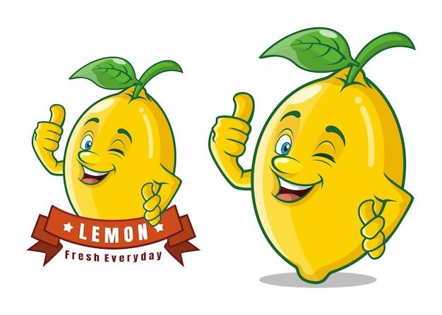 Postać z kreskówki pyszne owoce cytryny