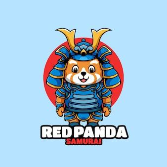 Postać z kreskówki samuraj czerwona panda