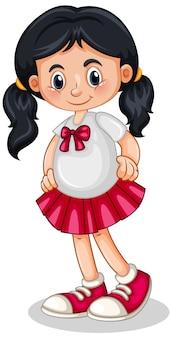 Postać z kreskówki słodkie dziewczyny