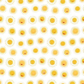 Postać z kreskówki słońce wzór