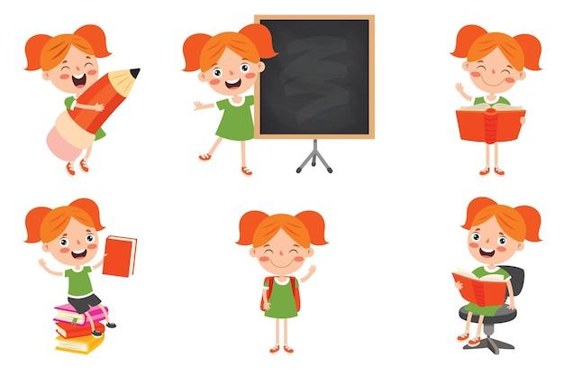 Postać z kreskówki, studia i uczenie się