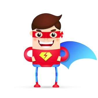 Postać z kreskówki superbohatera mocy