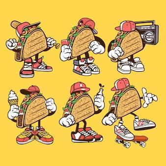 Postać z kreskówki taco