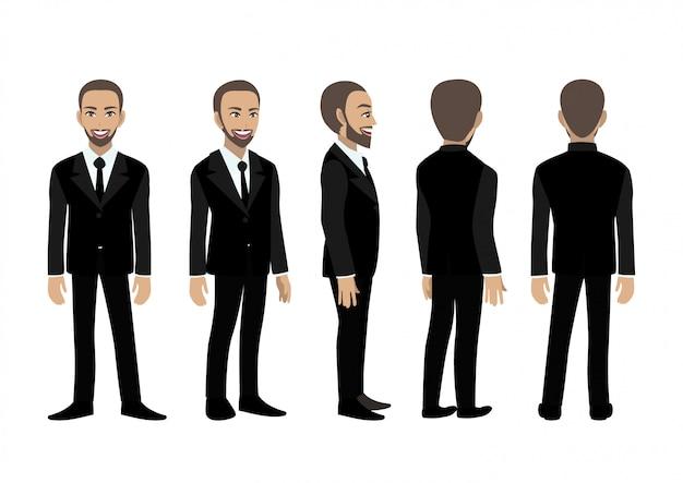 Postać z kreskówki z człowiekiem biznesu.