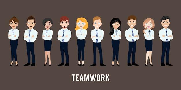 Postać z kreskówki z działalności człowieka i kobieta biznesu