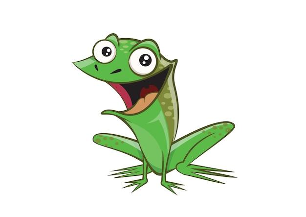 Postać z kreskówki żaba uśmiech.