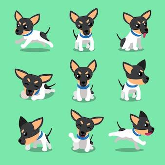 Postać z kreskówki zabawki teriera psa pozy