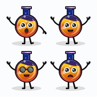 Postać z logo butelki mikstury