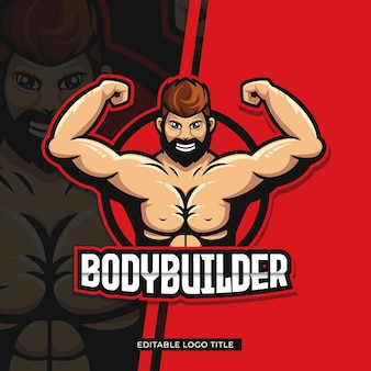 Postać z logo siłacza
