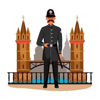 Postać żołnierza strażnika, królowych patrolujących post