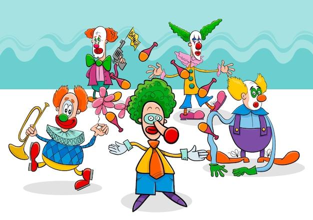 Postaci z kreskówek cyrkowych klaunów