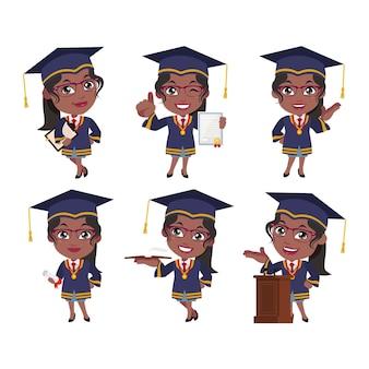 Postacie absolwentów studiów o różnych pozach