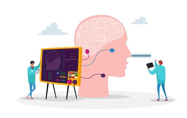 Postacie inżynierów tworzą umysł sztucznej inteligencji