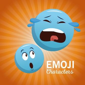 Postacie na czacie emoji