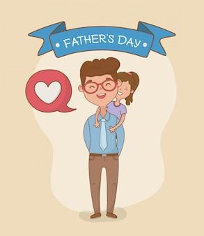 Postacie ojca i córki