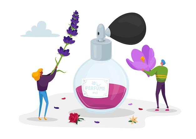 Postacie perfumiarzy tworzą nowy zapach perfum