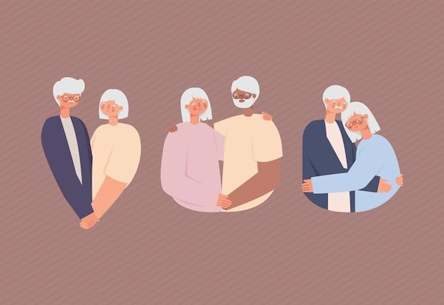 Postacie starych dziadków