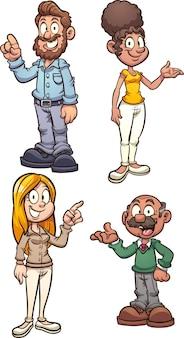 Postacie z kreskówek dla dorosłych mężczyzn i kobiet