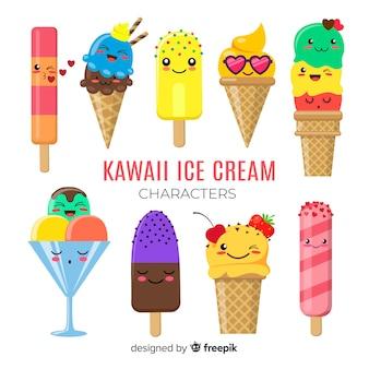 Postacie z lodów kawaii