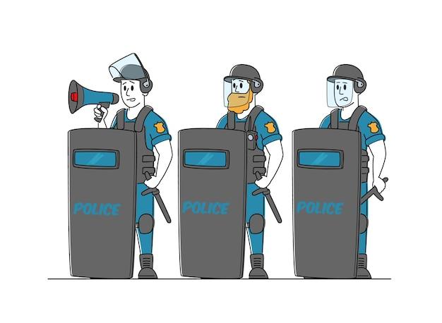 Postacie żandarmerii noszą mundury