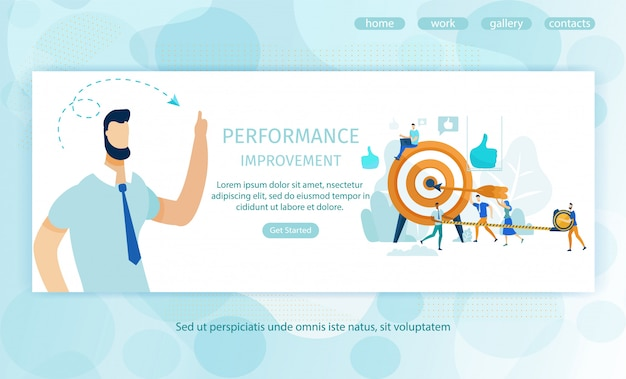 Poster performance improvement landing page