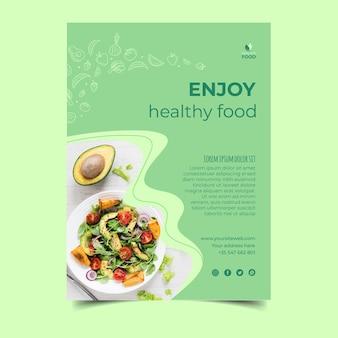 Postertemplate zdrowej żywności