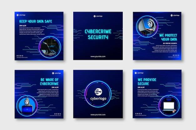 Posty na instagramie dotyczące bezpieczeństwa cybernetycznego