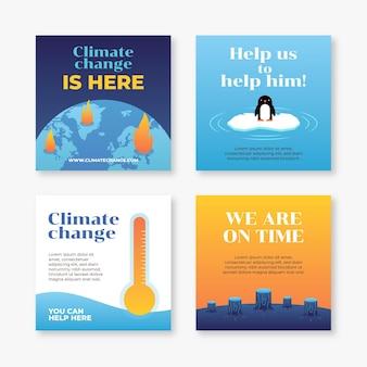 Posty na instagramie dotyczące gradientów zmian klimatu