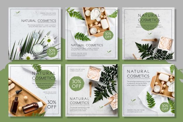 Posty na instagramie dotyczące kosmetyków naturalnych