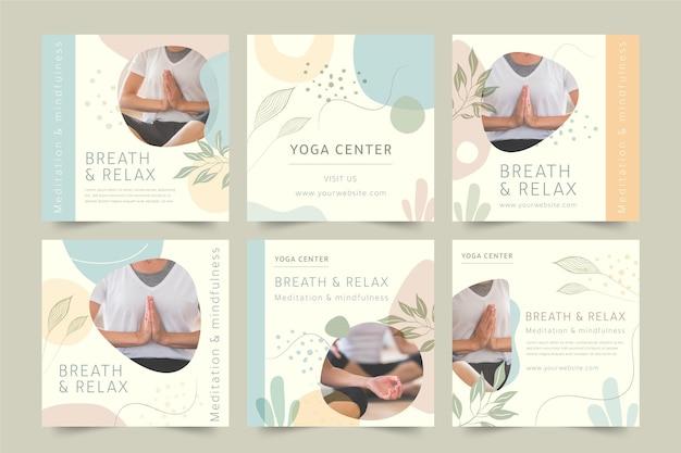 Posty na instagramie dotyczące medytacji i uważności