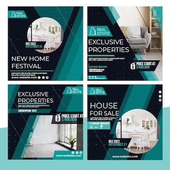 Posty na instagramie dotyczące nieruchomości