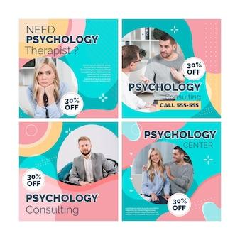 Posty na instagramie dotyczące psychologii
