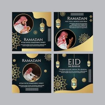 Posty na instagramie dotyczące ramadanu