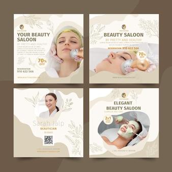 Posty na instagramie dotyczące salonu piękności