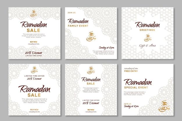 Posty na instagramie dotyczące sprzedaży ramadanu