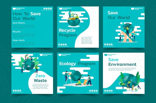 Posty na instagramie dotyczące środowiska