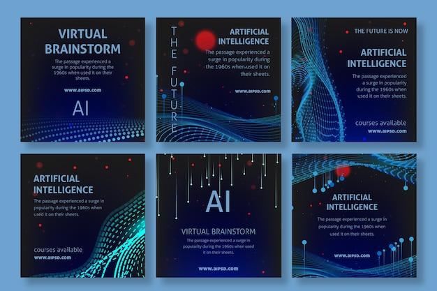 Posty na instagramie dotyczące sztucznej inteligencji