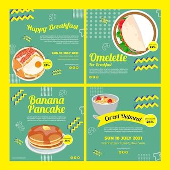 Posty na instagramie restauracji śniadaniowej