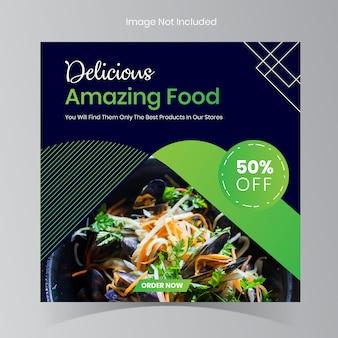 Posty na instagramie restauracji żywności