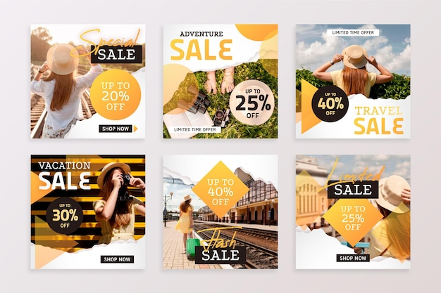 Posty na instagramie w sprzedaży w podróży