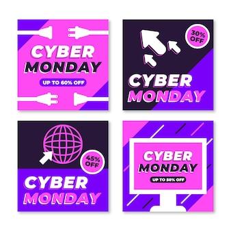 Posty na instagramie z cyber poniedziałek