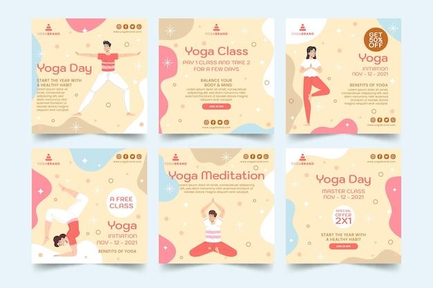Posty na instagramie z jogą yoga