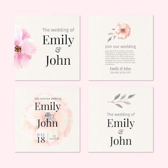 Posty na instagramie z kwiatowym ślubem